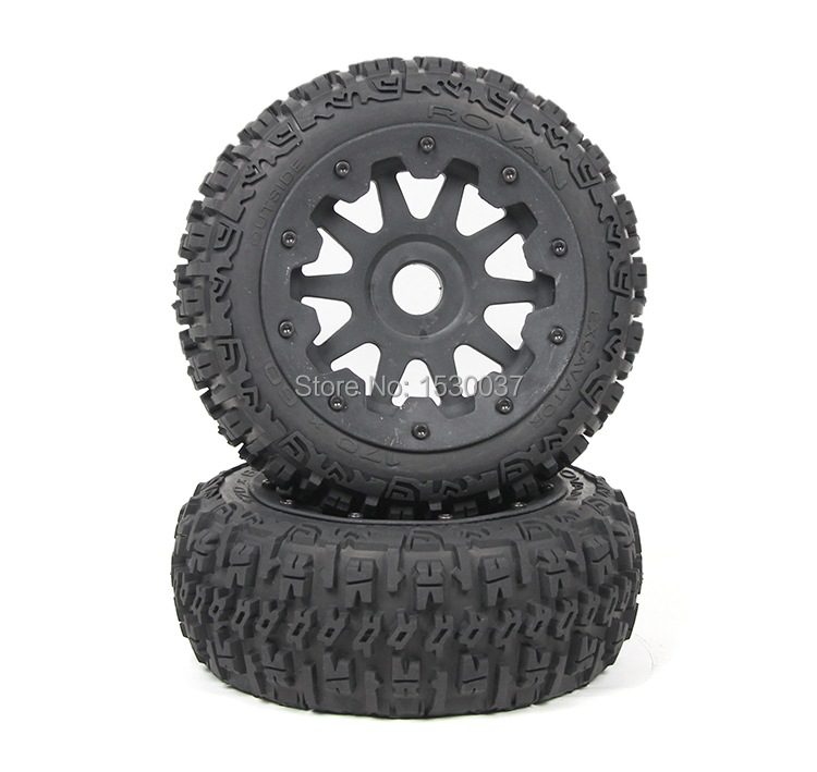 1/5 rc racing car parts  Front knobby wheels X 2 tyre fit HPI/Rovan Baja 5B ������������ ������ ���������� �� ��������������