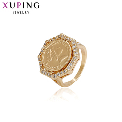 Xuping Fashion Ring Gold Color Plated Synthetic Cubic Zirconia Charm for Women Jewelry Christmas Gift S42.2-13393