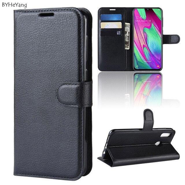 Для samsung Galaxy A40 Флип кожаный чехол-портмоне с держателем для телефона с бумажником и черный Чехол-книжка для samsung Galaxy A40 Сумки на a40 40