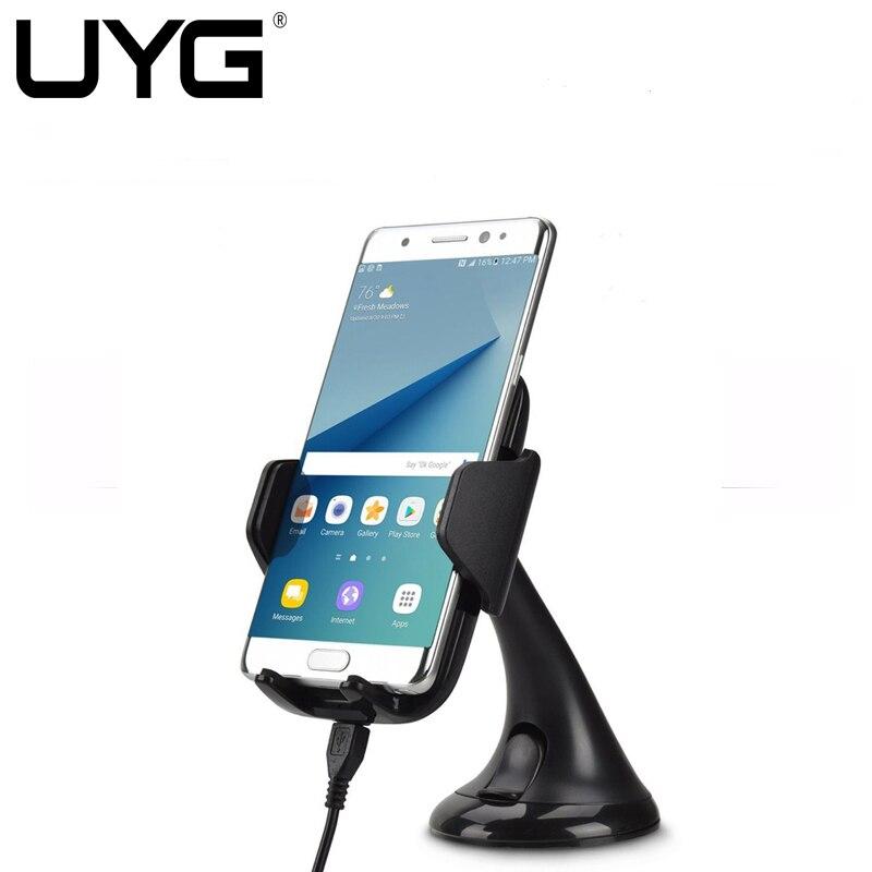 bilder für 2in1 Qi Wireless-ladegerät Lade Auto Pad Telefon Halter Drahtlose Auto Ladegerät für Samsung S6 S7 S7 Kante Anmerkung 5 s8 plus GPS halter