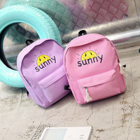 Korean version trend cartoon clouds canvas expression canvas bag college Fengsheng school bag fashion leisure travel bag