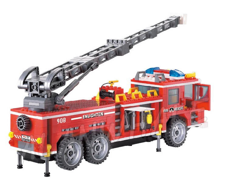 Model Building New City Rescue Team Fire Ladder Truck Kit Compatible With Lego 60107 Building Blocks Set Educational Toys Boys Christmas Gifts By Scientific Process Toys & Hobbies
