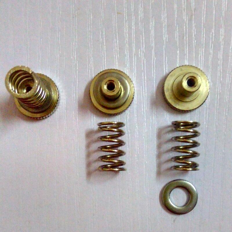 Al por mayor um2 heatbed semillero accesorios ajuste primavera + mano torsión moleteado tornillo de ajuste + arandela para Ultimaker2 impresora