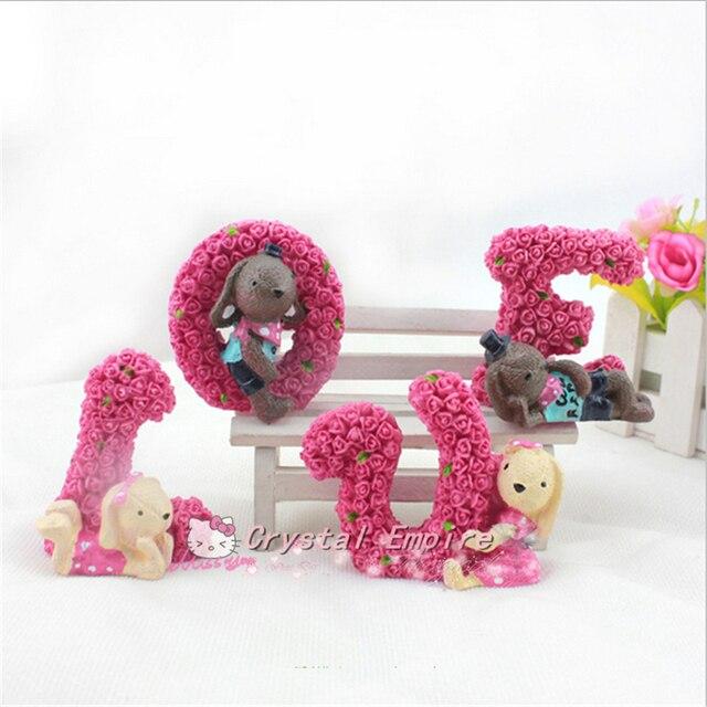 Aliexpresscom Buy 4PCS Hot Rose LOVE Rabbit Car Decoration Auto
