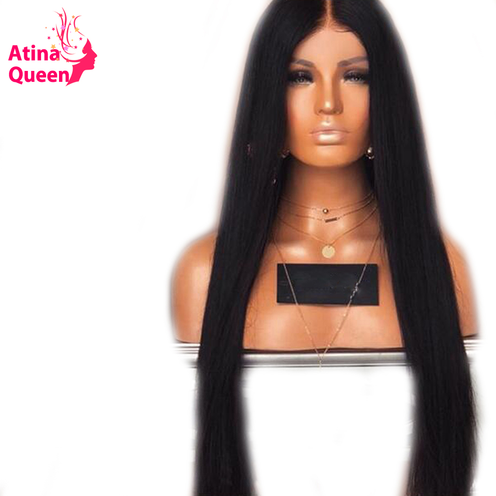 Atina Queen 13 6 Deep Part Lace Front Human Hair Wigs for Women 150 Density Straight