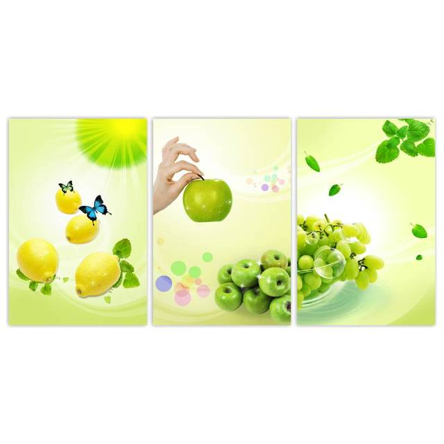 Restaurant Kitchen Wall Panels aliexpress : buy 3 panels printed wall pictures for kitchen