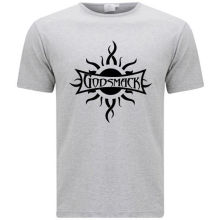 New Godsmack Metal Rock Band Logo Men's Grey T-Shirt Size S-3XL 2017 Latest Men T Shirt Fashion Short Sleeves 100% Cotton