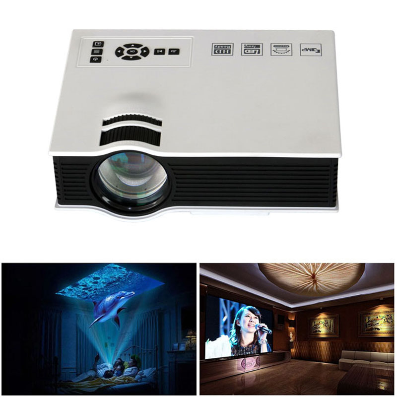 Hot selling 1800lumens led mini home multimedia projector for Best quality mini projector