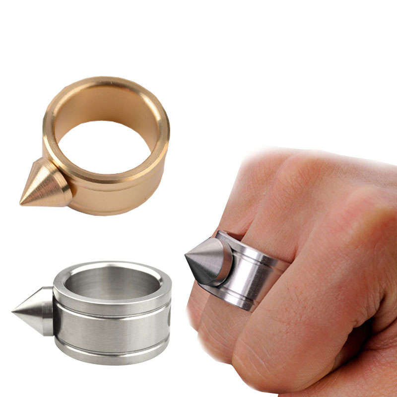 High Quality EDC Zinc Alloy Self-Defense Ring Anti-wolf Protective Equipment Outdoor Tool Punk Rings Cool Brass Knuckles