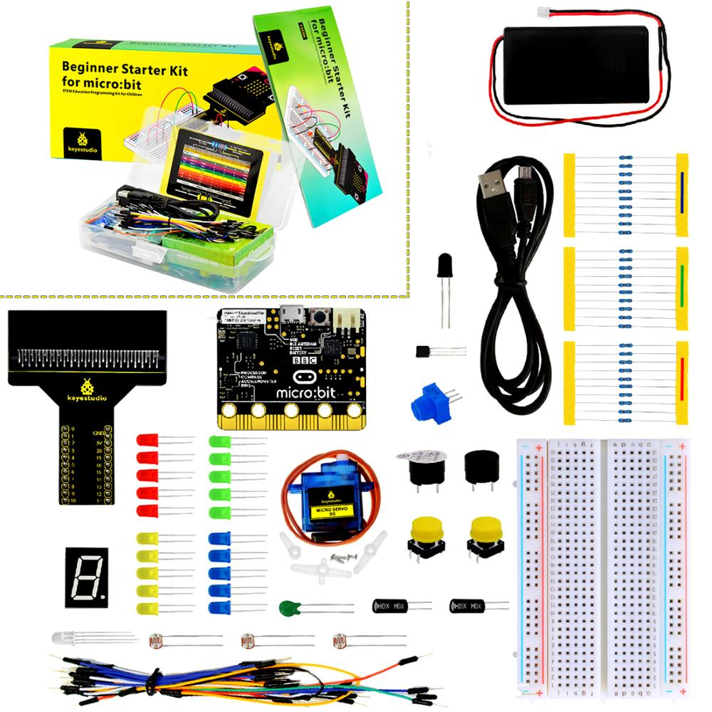 keyestudio Beginner Starter Kit for BBC micro:bit (Including Micro:Bit Board )