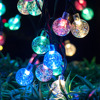 Solar Powered LED String Light Multicolor Crystal Ball Fairy Lights outdoor garden landscape lamp decoration Lighting promo