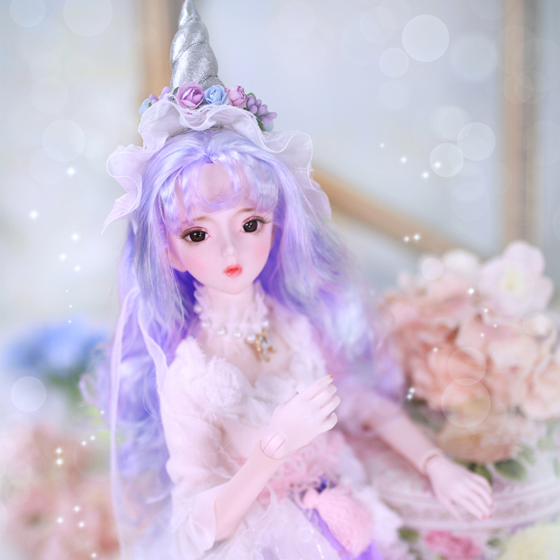 BJD doll 1 3 joint body 62CM Hand painted makeup Suit with clothes shoes and gift