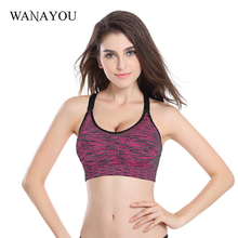 Women Quick Dry Sports Bra Wirefree Padded Shakeproof font b Fitness b font Underwear Push Up