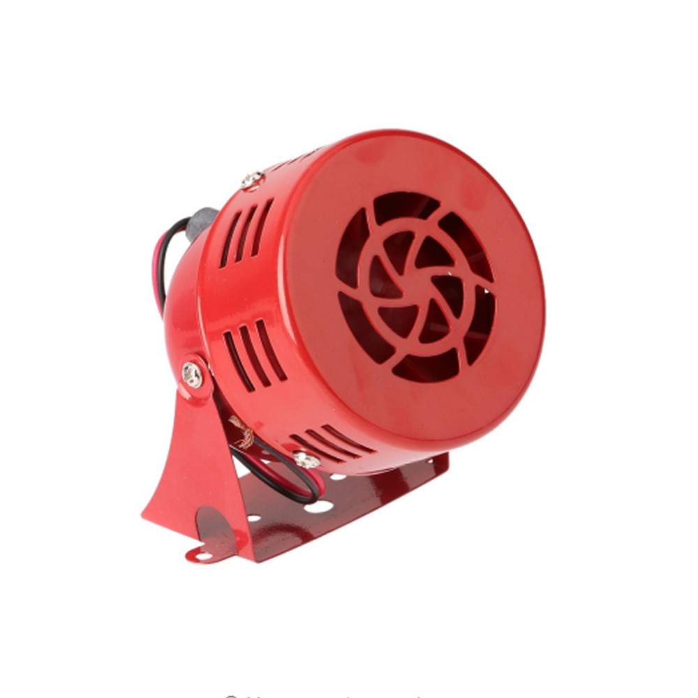 Air Raid Siren Horn Car Truck Motor Driven Alarm Red Siren Alarm