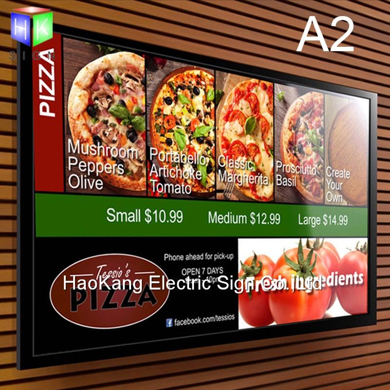 A2 restaurant menü bord schild für fast food menü führte ...