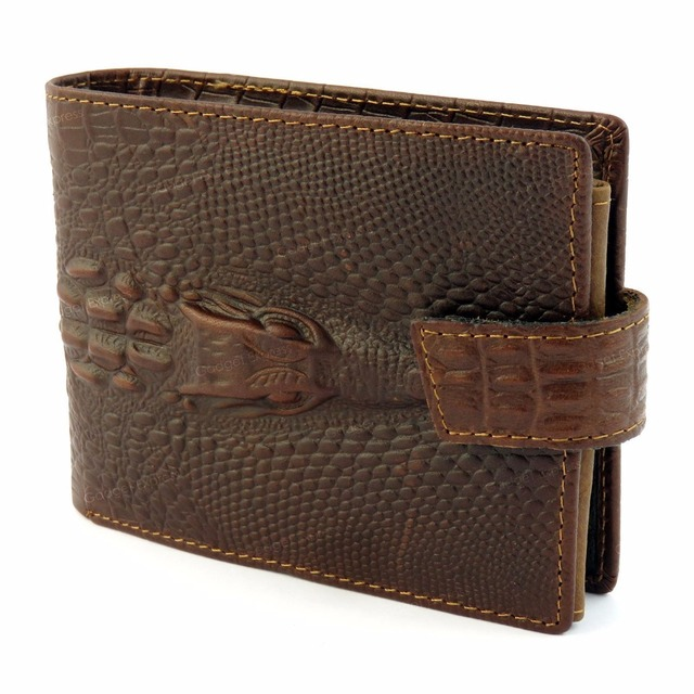Mens Dragon Luxury Quality Leather Wallet Credit Card Holder Purse Brown