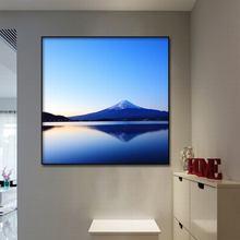 ผ้าใบ art ภาพจิตรกรรมฝาผนังตกแต่งบ้าน Fuji mountain ภูมิทัศน์โปสเตอร์และพิมพ์ hotel corridor พิมพ์ภาพจิตรกรรมฝาผนังศิลปะกรอบ