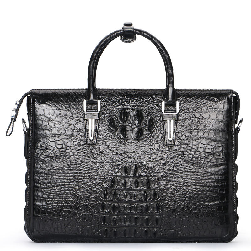100% Genuine Crocodile Skin Men Laptop Briefcase Businessmen Handbag Exotic Alligator Leather Male Top Handle Totes Bag For Man цена
