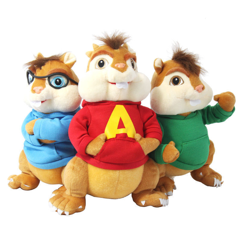 product 1 pcs Alvin And The Chipmunks Simon Theodore Plush Toy Christmas Gift 25cm/10\