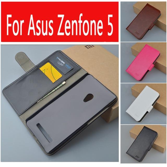 J & r ブランド狂気の馬の フリップ レザー ケース asus の zenfone 5 A501CG財布カバー付き カード スロット と スタンド機能9色