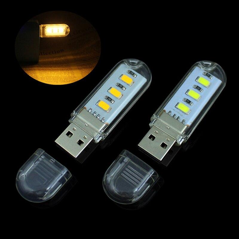 FFFAS Mini portable Power saving 5730 LED USB light Table lamp Reading Night light USB Gadgets for Notebook PC laptop power bank
