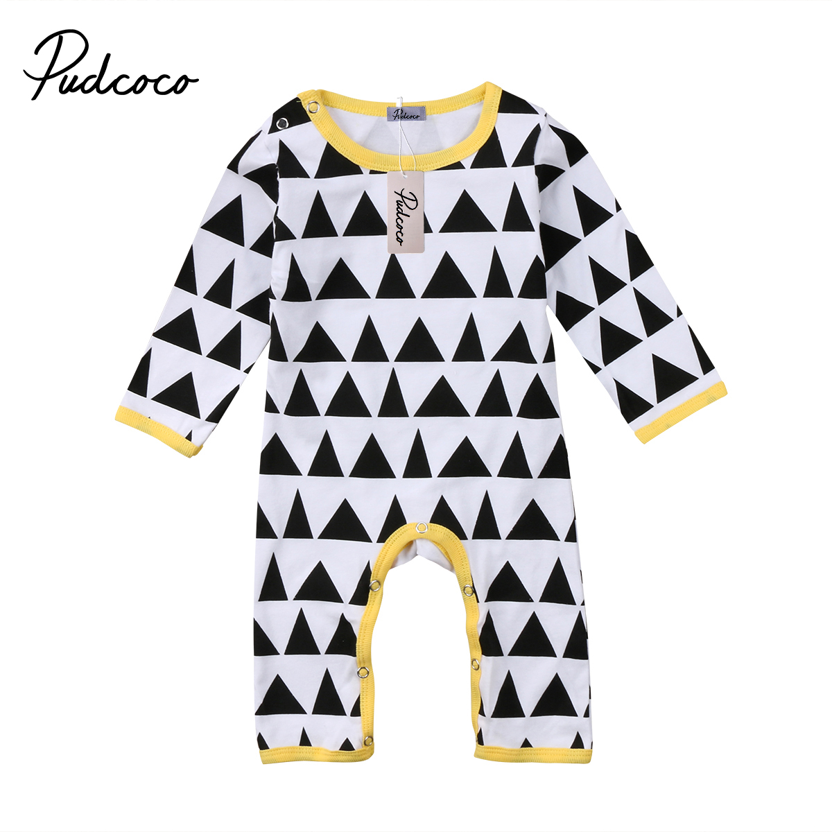 1e2535beb Buy triangle print baby girl romper and get free shipping on ...