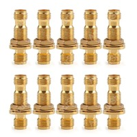 Sale 10 Pcs Adapter SMA Female To Jack Nut Panel Mount Connector Straight High Quality Minijack