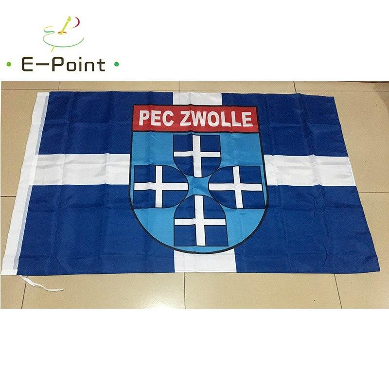 5ft 96*144 Cm Treu Niederlande Pec Zwolle 3ft Größe Weihnachtsschmuck Für Zu Hause Flagge Banner Typ C Geschenke Attraktive Mode