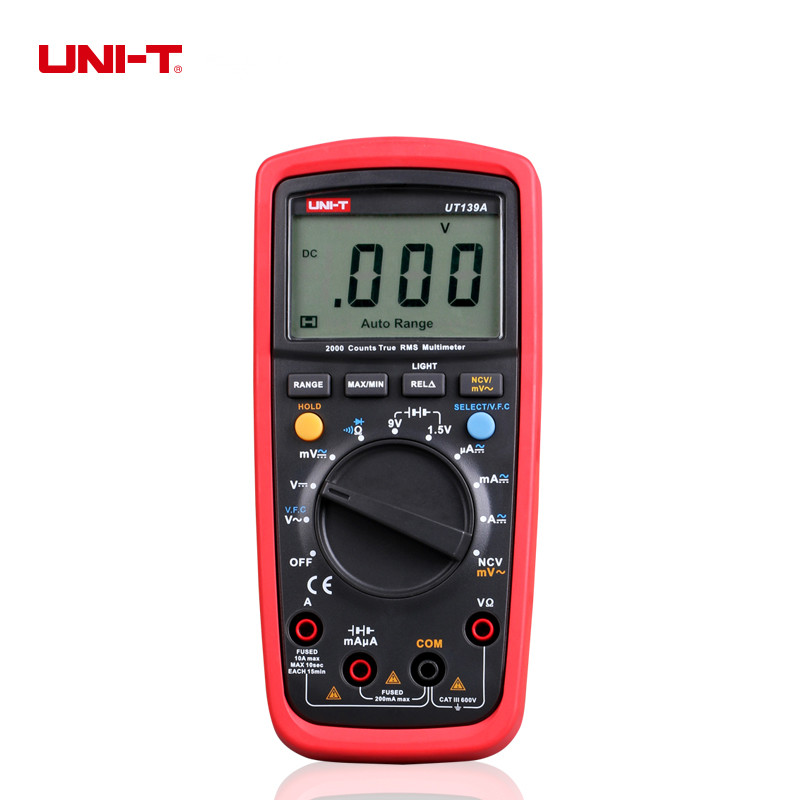 UNI-T UT139A True RMS Digital Multimeters 2000 Display Count Voltage Current Testers With VFC Function [randomtext category=