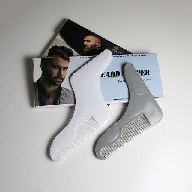 Beard Comb The 2nd Generation Professional Beard Shaving Beard Styling Template Carding Tools Bearded Comb Brush For Men Shaving