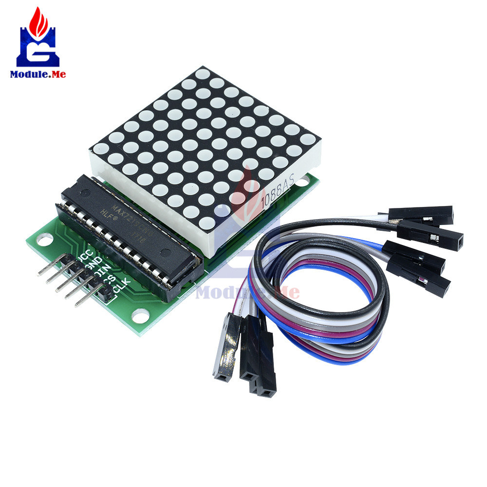 Active Components Max7219 Dot Led Matrix Module Mcu Led Display Control Module For Arduino 5v Interface Module 8 X 8 Output Input Common Cathode Carefully Selected Materials