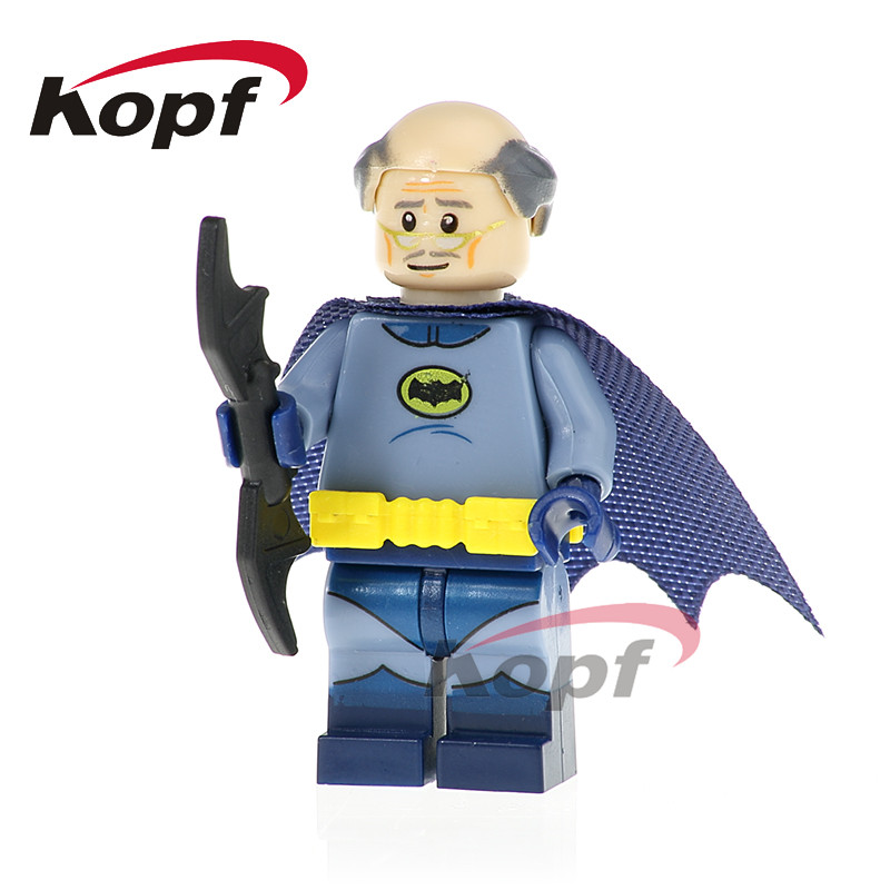 PG419 Super Heroes Bat Alfred Crazy Quilt Apache Chief Master Batman Bricks Model Building Blocks Doll For Children Toys Gift