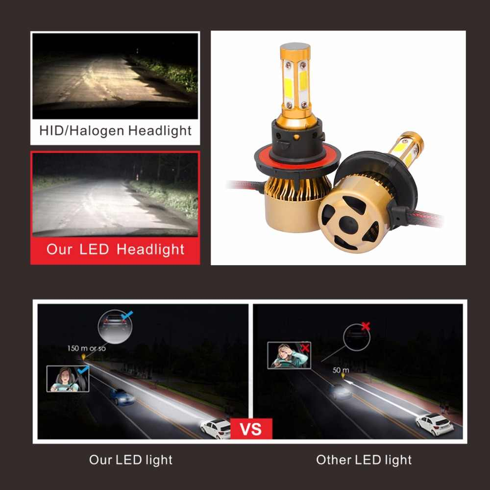 2pcs 9005 9006 9007 9004 H4 H7 H13 H8 COB LED Car Headlight Bulb 6500K Lamp LED Car Lights LED Headlight Car styling