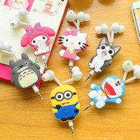 10pcs Lot Good Gift 3 5mm Cartoon Earphone Headphone Headset Earbuds Retractable Headphones For Samsung Xiaomi
