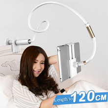 120cm Long Arm Adjustable Tablet Stand Holder for Ipad Samsung Kindle 4-10.5 Inc