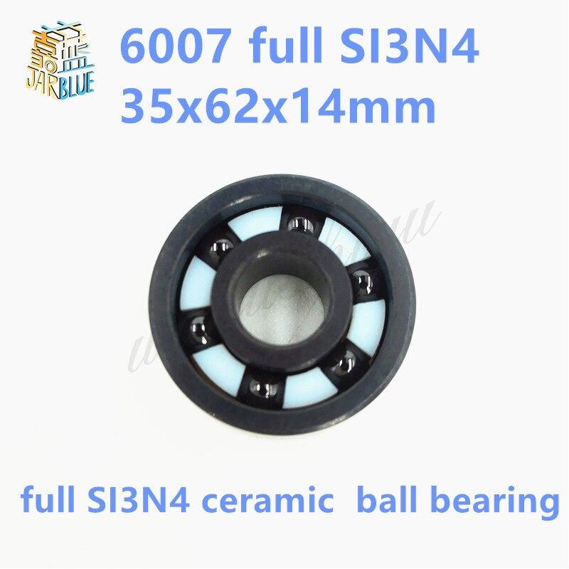 Free shipping 6007 full SI3N4 P5 ABEC5 ceramic deep groove ball bearing 35x62x14mm gcr15 6036 180x280x46mm high precision deep groove ball bearings abec 1 p0 1 pcs