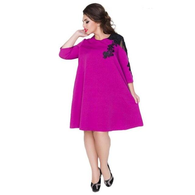 2018 elegante primavera vestido suelto para las mujeres a line ...