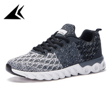Summer 2017 Breathable Comfy Eva Soft Sole Lightweight Running Shoe Hot Sale Lace-up Sneakers
