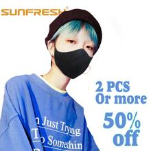 pm2.5 Unisex Black cloth face Kpop Mouth Masks Washable Cotton Anti Dust Protective Reusable Shield Wind Proof anime Cover