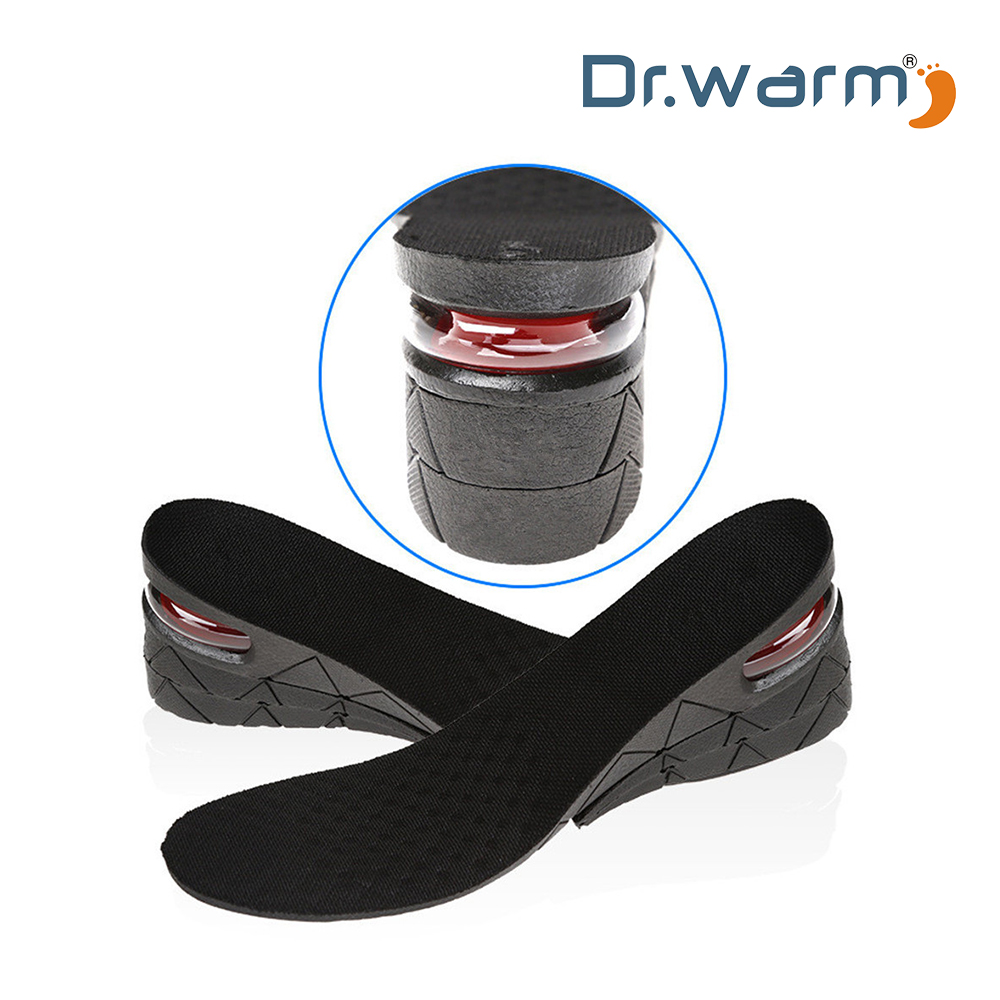 Invisible Shoe Pads Cushion Height Insoles For Men Air Insole 1 2 3 Layers Black
