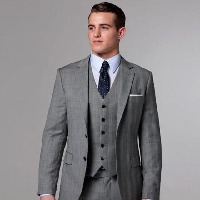 2017 Heisser Verkauf Manner Grau Alten Vintage Anzug Drei Stuck Jacke