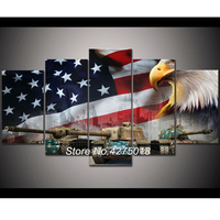 DIY Diamond Painting Cross Stitch Kit Full Diamond Embroidery 5D Square Diamond Mosaic Decor American flag and eagle 5pcs ML266