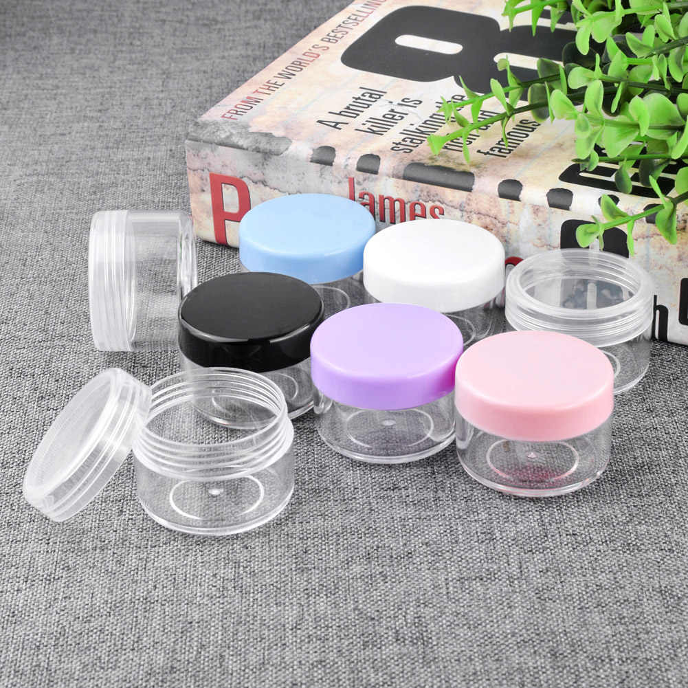 WITUSE 10g 15g 20g Mini Cosmetic Portable Empty Cream Jar Pot Eyeshadow Makeup Cosmetic Container Box With Lids