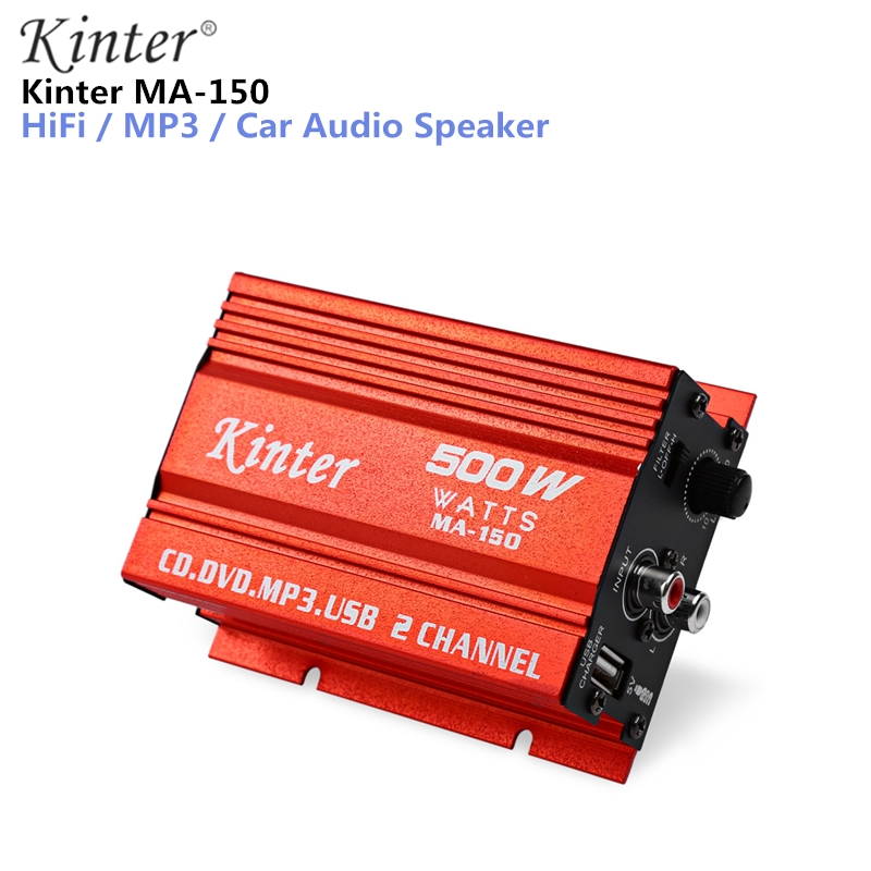 Kinter MA-150 Mini Amplifier 5V audio amplifie 500W 5V Hi-Fi Stereo Amplifier Booster DVD MP3 Speaker for Car Motorcycle купить в Москве 2019