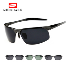 Professional Military Men Polarized Sunglasses Half Frame Ni