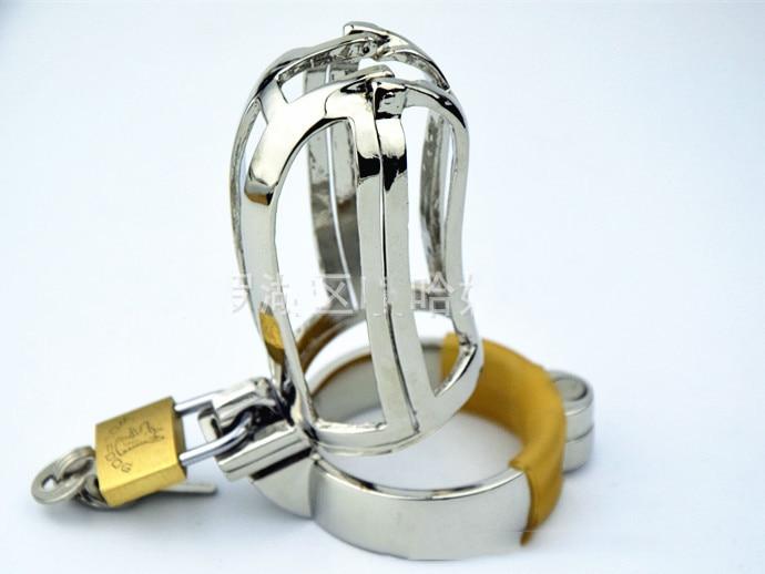 Chastity Locks male metal Hollow out chastity device cock cage Padlock penis lock men Penile lock Virgin lock