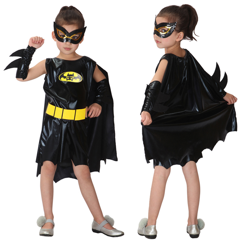 Filles lego batman movie Deluxe prestige Les Chauves-Souris Costume Taille Petit 4-6X ~ NOUVEAU
