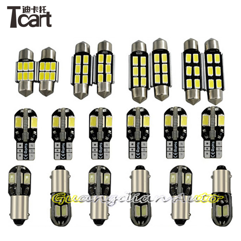Tcart 16pcs/lot super bright Error Free Footwell Glove box Vanity Mirrors Trunk Front Rear Dome Doors Reading Lights For E91