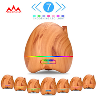 Air Humidifier Aroma Essential Oil Diffuser Aromatherapy 7 Color LED Lights Adjustable Mist Maker For Office