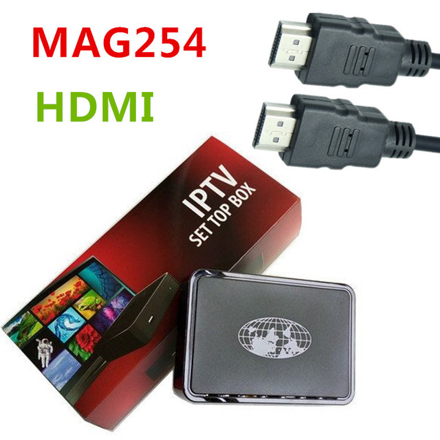 MAG 254 IPTV set top box with HDMI cable 4K mag254 not include Arabic European channels account